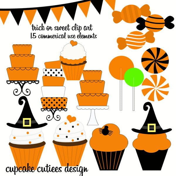Trick Or Sweet Elements  Cupcake Cutiees    Mygrafico