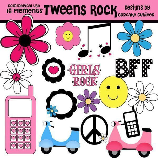 Tween Teen Rock Elements  Cupcake Cutiees    Mygrafico
