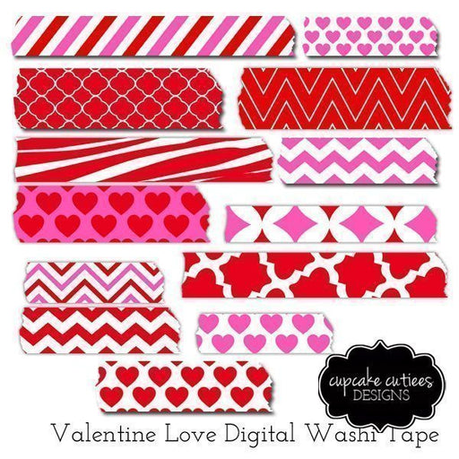 Valentine Love- Washi Tape  Cupcake Cutiees    Mygrafico