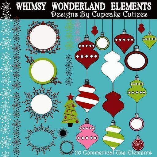 Whimsy Wonderland Elements  Cupcake Cutiees    Mygrafico
