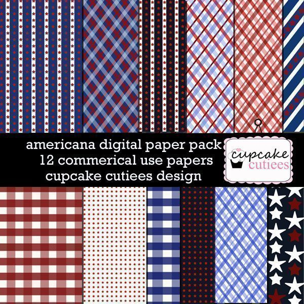 Americana Papers  Cupcake Cutiees    Mygrafico