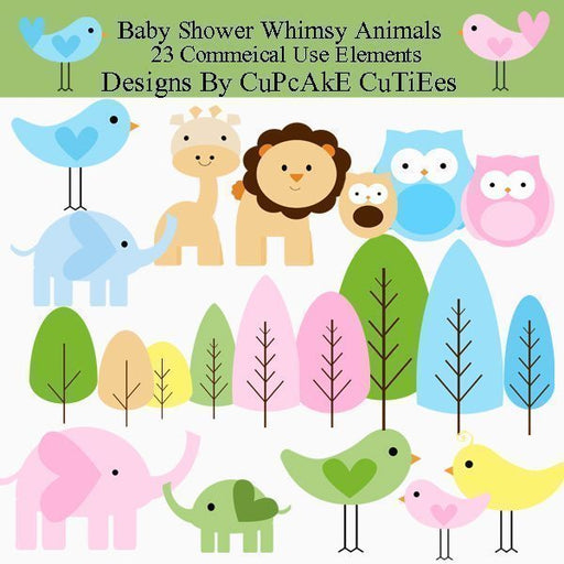 Baby Shower Animals  Cupcake Cutiees    Mygrafico