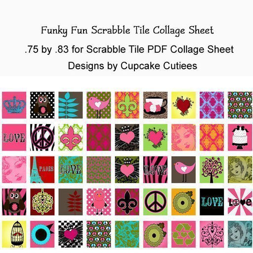 Funky Fun Scrabble Tile Collage Sheet Printable Templates Cupcake Cutiees    Mygrafico