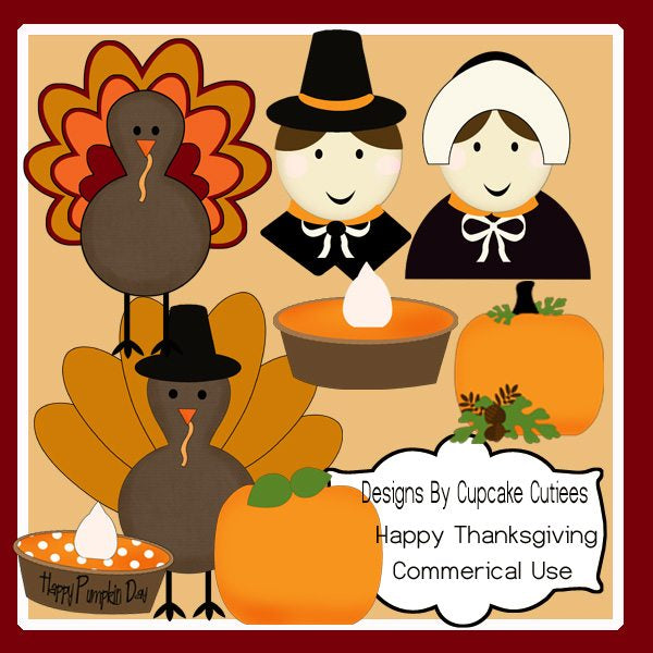 Happy Thanksgiving Elements  Cupcake Cutiees    Mygrafico