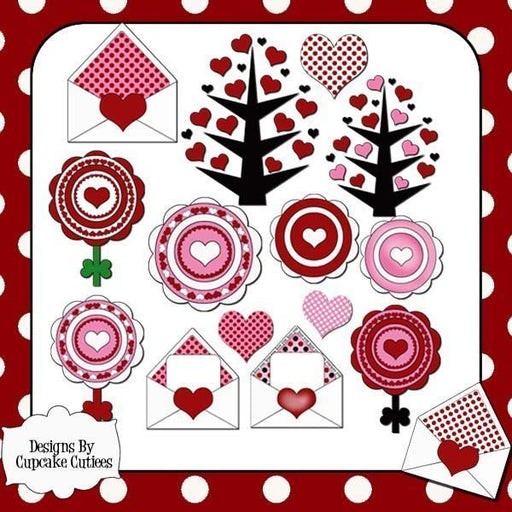Love Letters Heart cliparts  Cupcake Cutiees    Mygrafico
