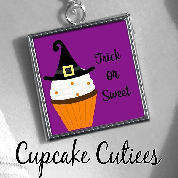 Trick Or Sweet Digital Collage Sheet SCRABBLE  Cupcake Cutiees    Mygrafico