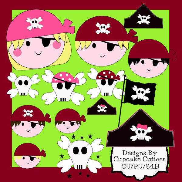 Pirates and Pirate Princess Elements  Cupcake Cutiees    Mygrafico