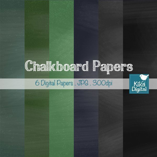 Chalkboard Papers  Kika Digital    Mygrafico