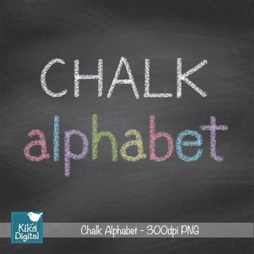 Chalk Alphabet  Kika Digital    Mygrafico