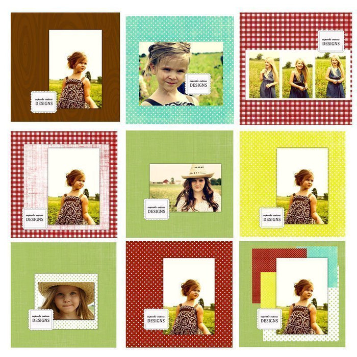 Country Chic Paper Pack  Cupcake Cutiees    Mygrafico