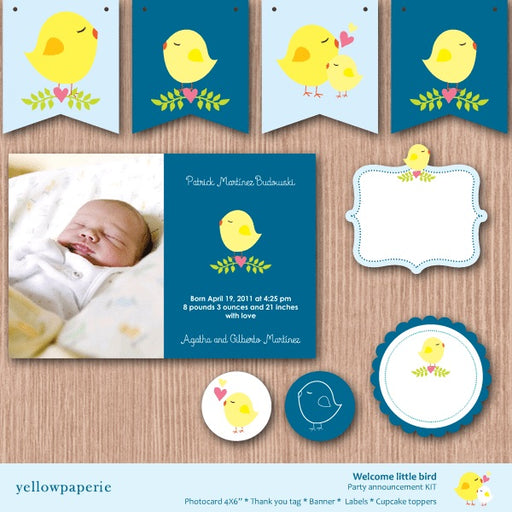 Welcome Little Bird Printable Templates Yellowpaperie    Mygrafico