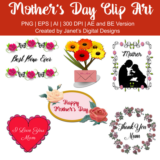 Mother's Day Clip Art Clipart Janet's Digital Designs    Mygrafico