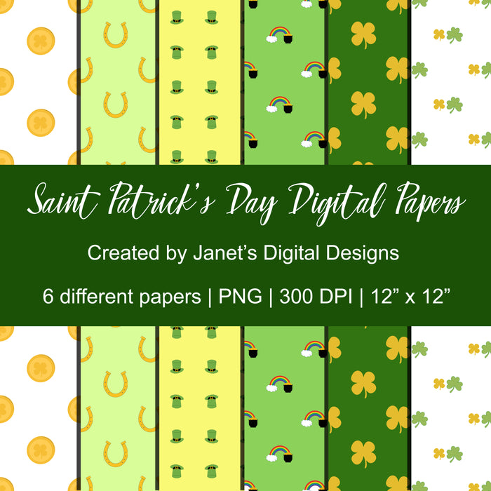 Saint Patrick's Day Digital Papers Digital Papers & Backgrounds Janet's Digital Designs    Mygrafico