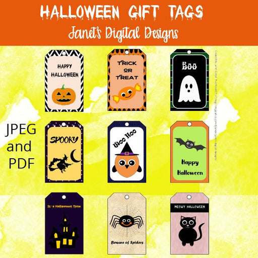 Halloween Gift Tags  Janet's Digital Designs    Mygrafico