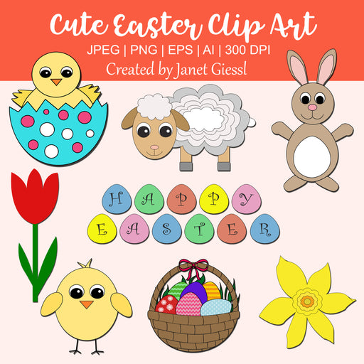 Cute Easter Clip Art Clipart Janet's Digital Designs    Mygrafico