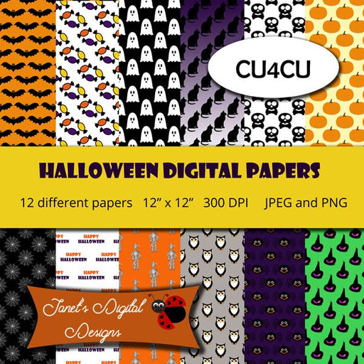 Halloween Digital Papers Digital Papers & Backgrounds Janet's Digital Designs    Mygrafico