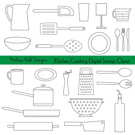 Kitchen Cooking Digital Stamps Clipart Digital Stamps Melissa Held Designs    Mygrafico