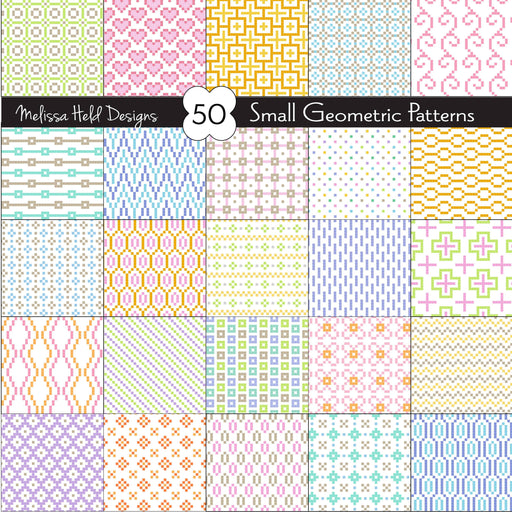 Small Geometric Patterns Super Pack