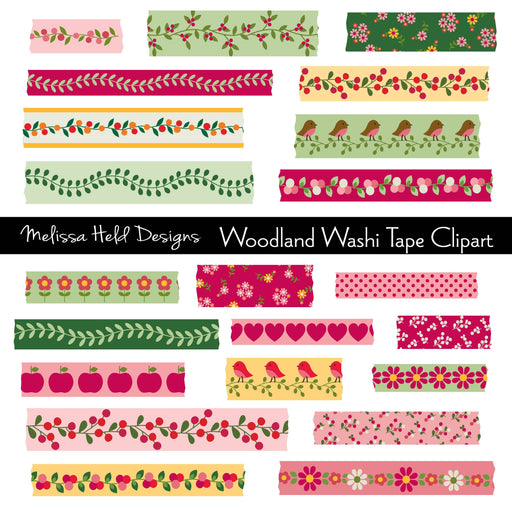Woodland Washi Tape Clipart Cliparts Melissa Held Designs    Mygrafico
