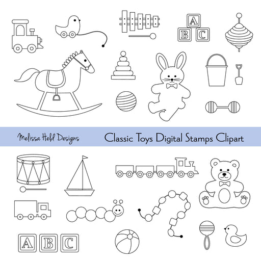 Classic Toys Digital Stamps Clipart Melissa Held Designs Mygrafico