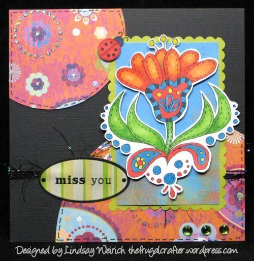 Doodle Flowers Digital Stamp Set  Lindsay's Stamp Stuff    Mygrafico