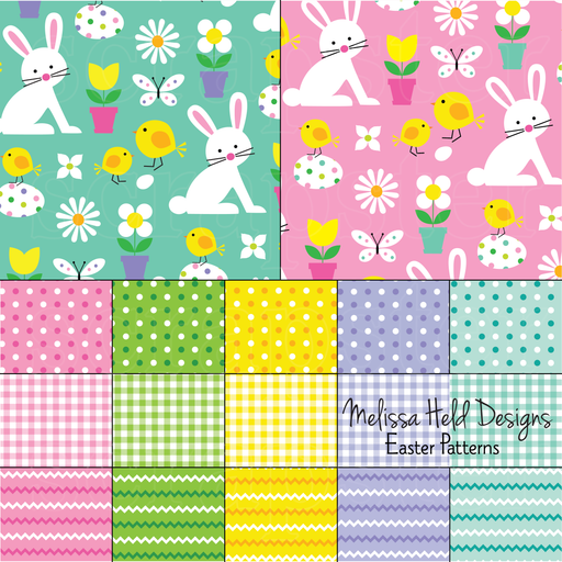 Easter Patterns Digital Papers & Backgrounds Melissa Held Designs    Mygrafico