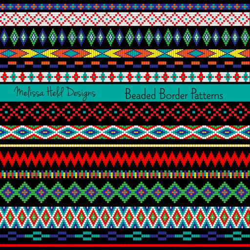 Beaded Border Patterns Clipart & Digital Paper Melissa Held Designs    Mygrafico