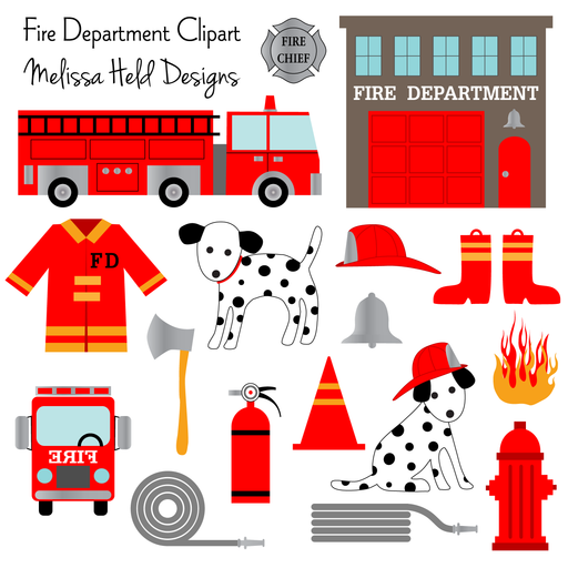 Fire Department Clipart Cliparts Melissa Held Designs    Mygrafico