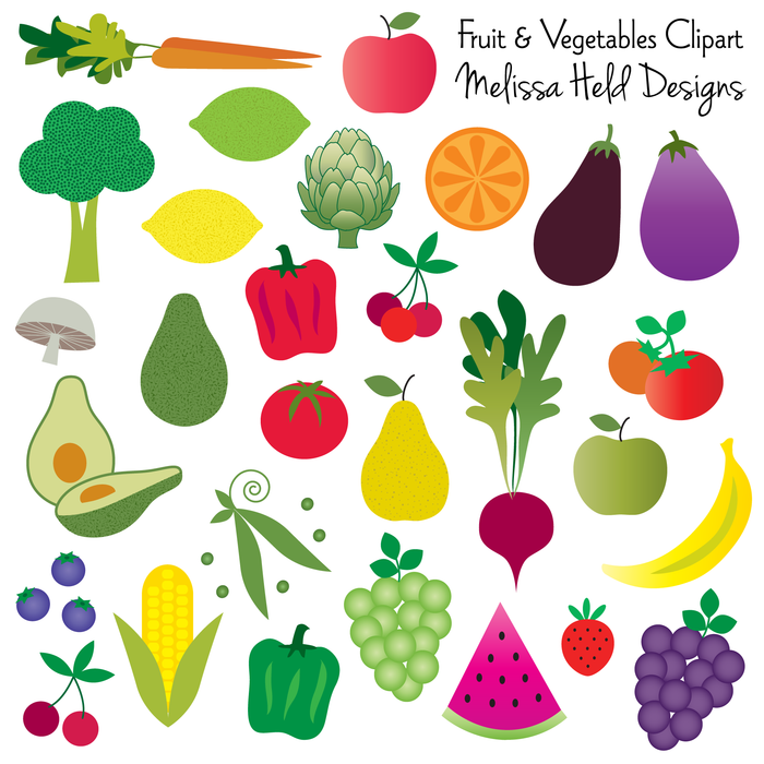 Fruit and vegetables Clipart Cliparts Melissa Held Designs    Mygrafico