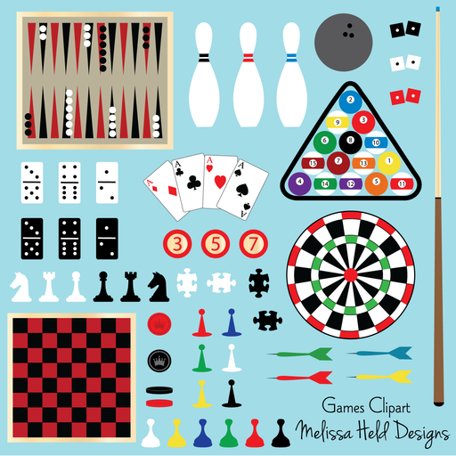 Games Clipart Clipart Melissa Held Designs    Mygrafico