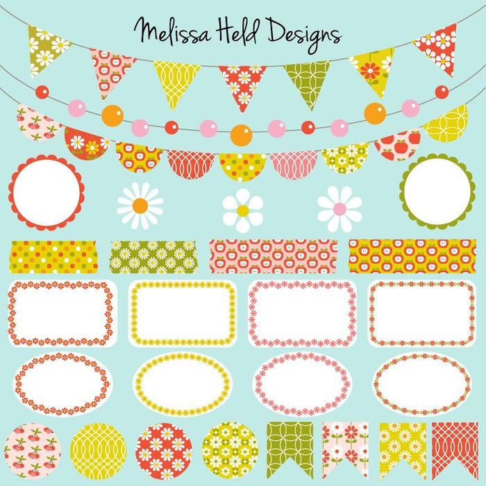 Vintage Patterns Bunting Clipart Cliparts Melissa Held Designs    Mygrafico