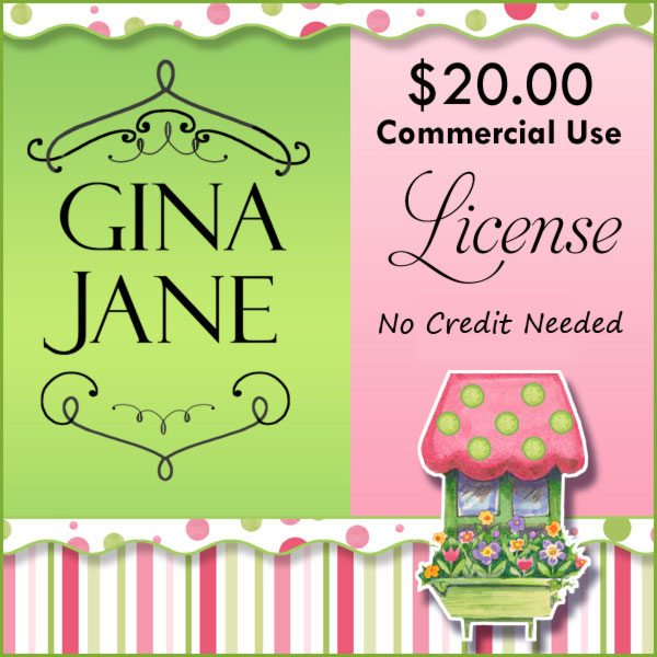 Commercial Use License - Gina Jane Commercial License Gina Jane    Mygrafico