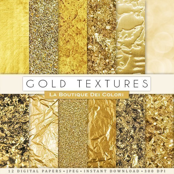 Gold Textures Digital Paper  La Boutique Dei Colori    Mygrafico