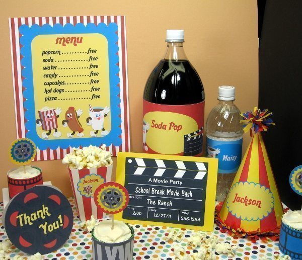 Movie Party Kit SVG Cutting Templates Lindsay's Stamp Stuff    Mygrafico