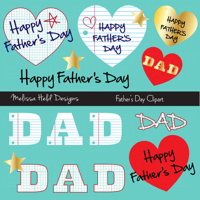 Paper Father's Day Clipart Clipart Melissa Held Designs    Mygrafico