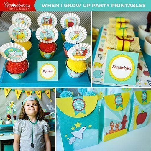 When I Grow Up Party Printables Party Printable Templates Strawberry Mommycakes    Mygrafico