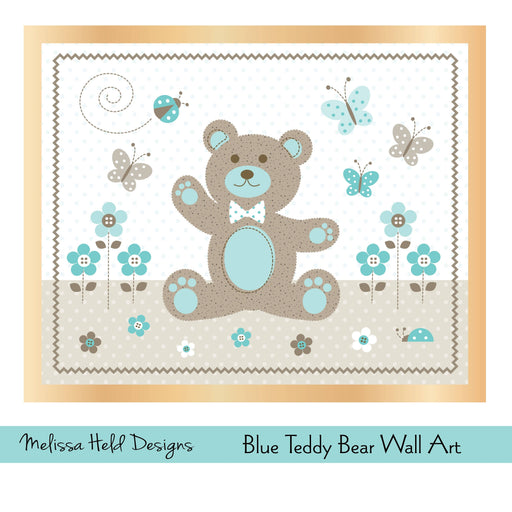 Blue Teddy Bear Digital Wall Art Photoshop Tools Melissa Held Designs    Mygrafico