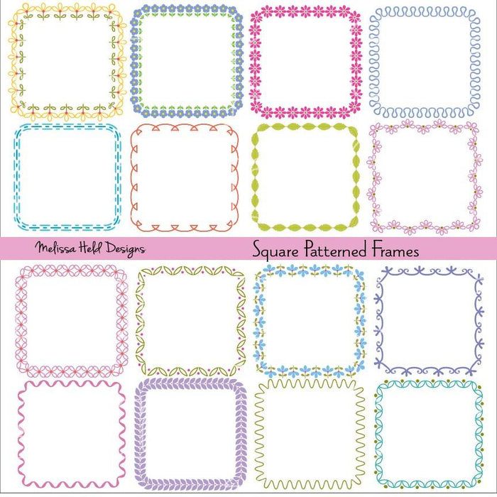 Square Patterned Frames Cliparts Melissa Held Designs    Mygrafico