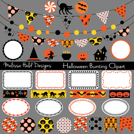 Halloween Bunting Clipart Cliparts Melissa Held Designs    Mygrafico