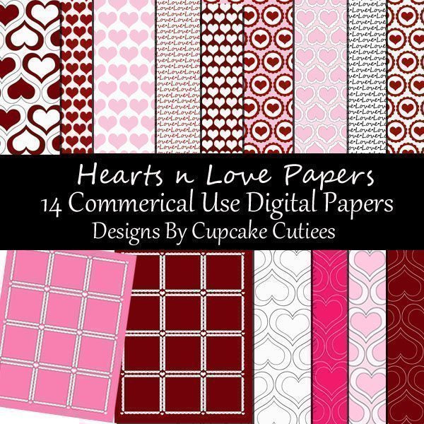 Hearts N Love Papers  Cupcake Cutiees    Mygrafico