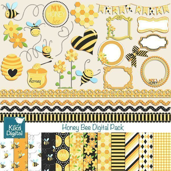 Honey Bee Bundle Set  Kika Digital    Mygrafico