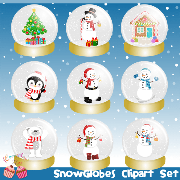 Snowglobes Clipart Set Cliparts 1 Everything Nice    Mygrafico
