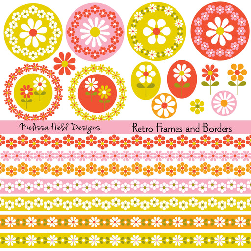 Retro Frames and Borders Cliparts Melissa Held Designs    Mygrafico