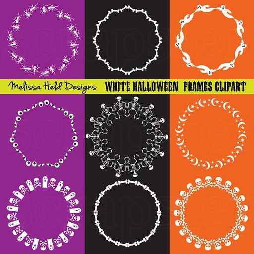 White Halloween Circle Frames Clipart Cliparts Melissa Held Designs    Mygrafico