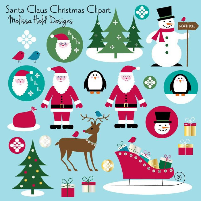 Santa Claus Christmas Clipart Cliparts Melissa Held Designs    Mygrafico