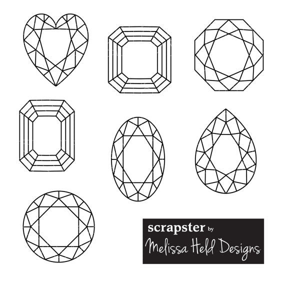 Gemstone Outline Clipart Cliparts Melissa Held Designs    Mygrafico