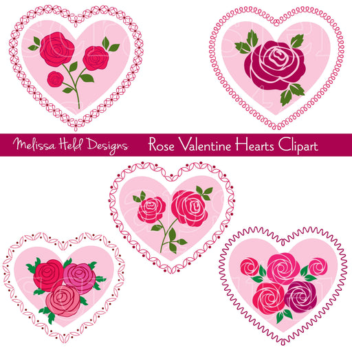 Rose Valentine Hearts Clipart Cliparts Melissa Held Designs    Mygrafico