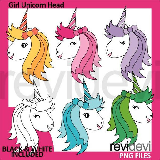 Girl Unicorn Head clipart Cliparts Revidevi    Mygrafico