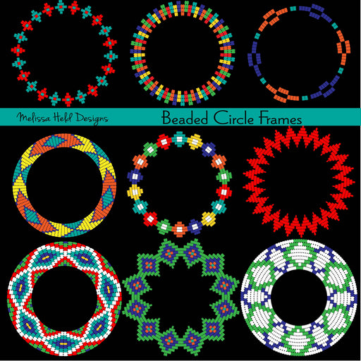 Beaded Circle Frames Clipart