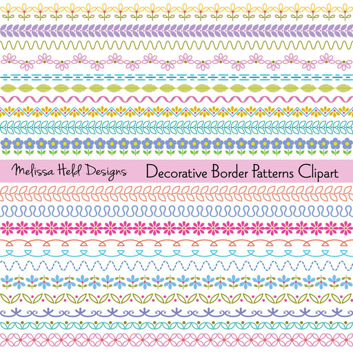 Decorative Border Patterns Clipart Cliparts Melissa Held Designs    Mygrafico